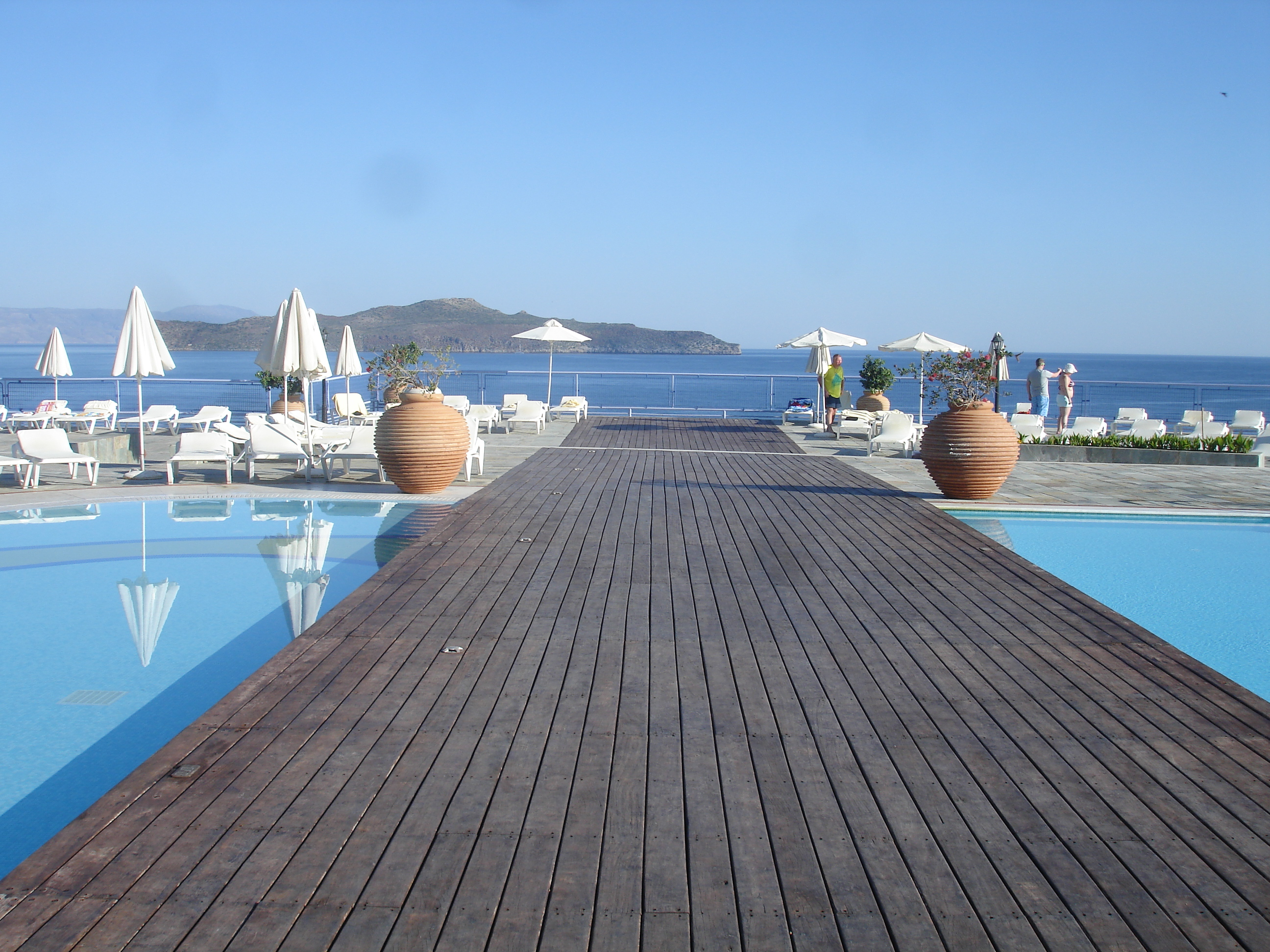 Swimming pool and view Panorama Hotel